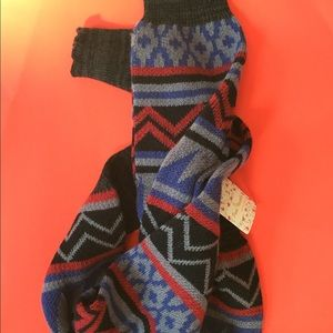 "New with tags FREE PEOPLE LEG WARMERS 36"" Aztec"